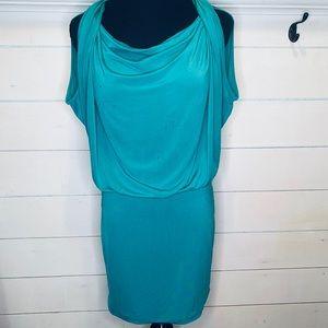 BCBGMaxAzria Dresses - Bcbg Maxazria teal scoop neck dress